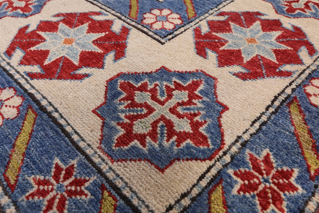 mesa collection hand knotted super kazak 9x12 red oriental wool area rug h7744