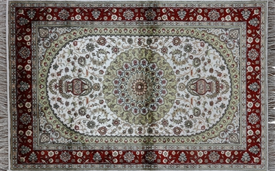 Silk Kashan Hand Knotted Rug