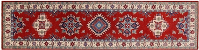 Red Super Kazak Hand Knotted Rug