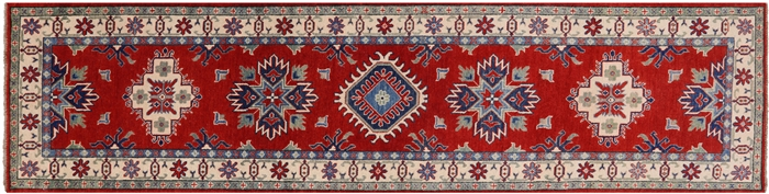 Red Kazak Hand Knotted Rug