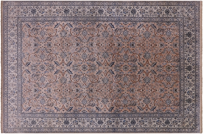 Authentic Persian Nain Hand Knotted Wool & Silk Rug