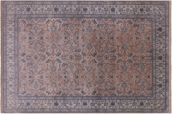 Authentique Persian Nain Camel Brown 8x12 Hand Knotted