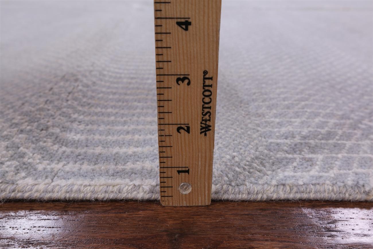 Hand Knotted Wool U0026 Silk 8u0027x10u0027 Grey Savanna Grass Hand Knotted Area Rug  H8272