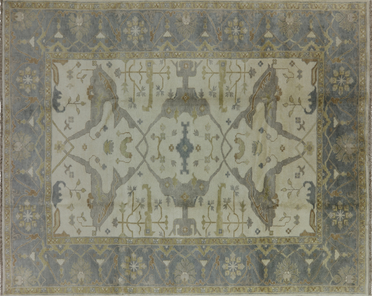 8 X 10 Intertwined Fish Oushak Hand Knotted Wool Area Rug