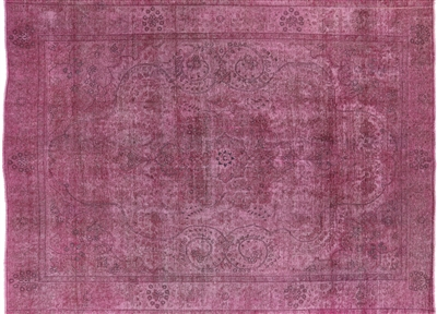 Hand Knotted Wool Persian Overdyed Rug