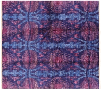 Modern Kaitag Hand Knotted Area Rug