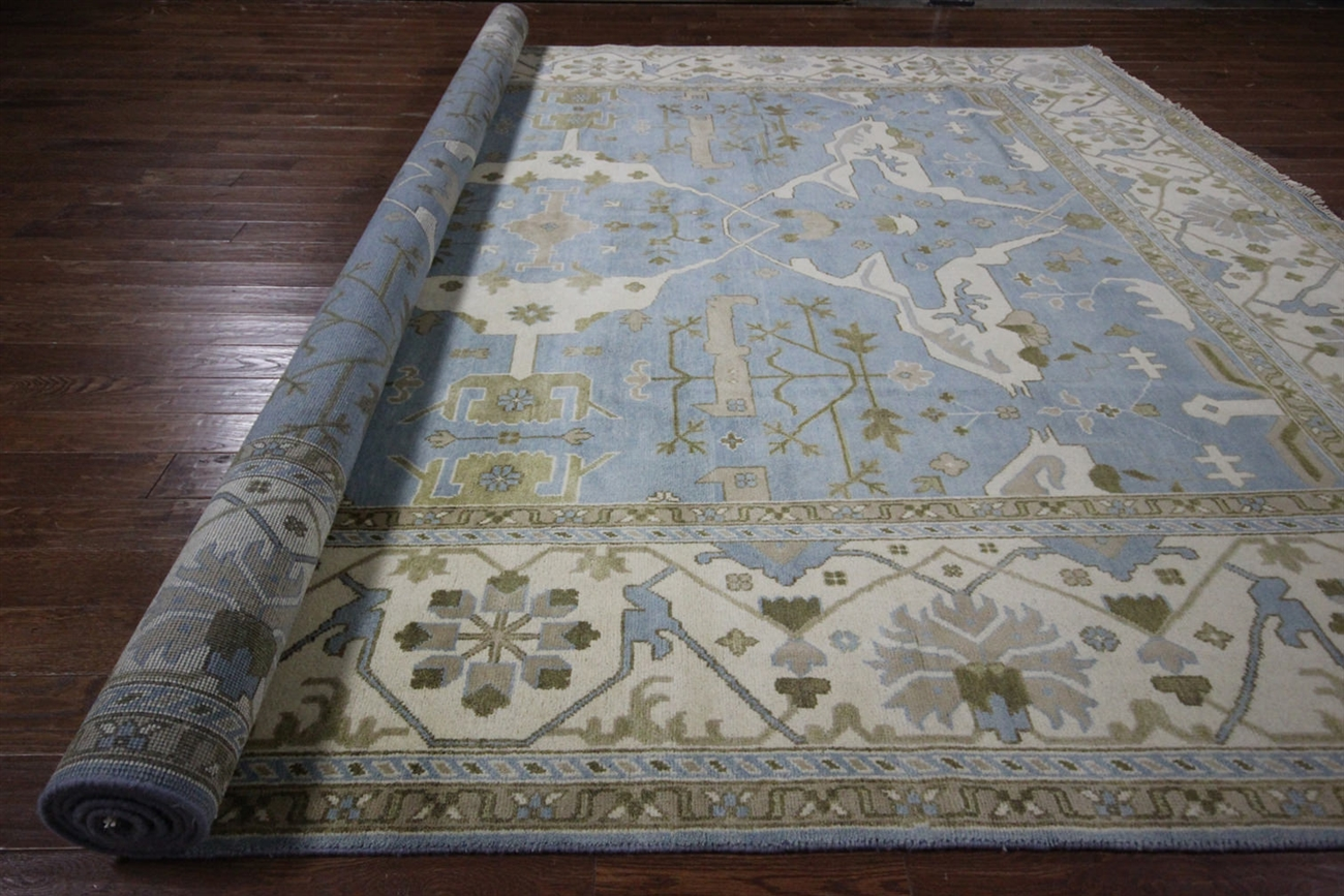 . oriental oushak hand knotted rug  x