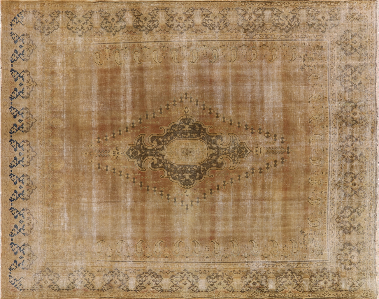 gold overdyed rug