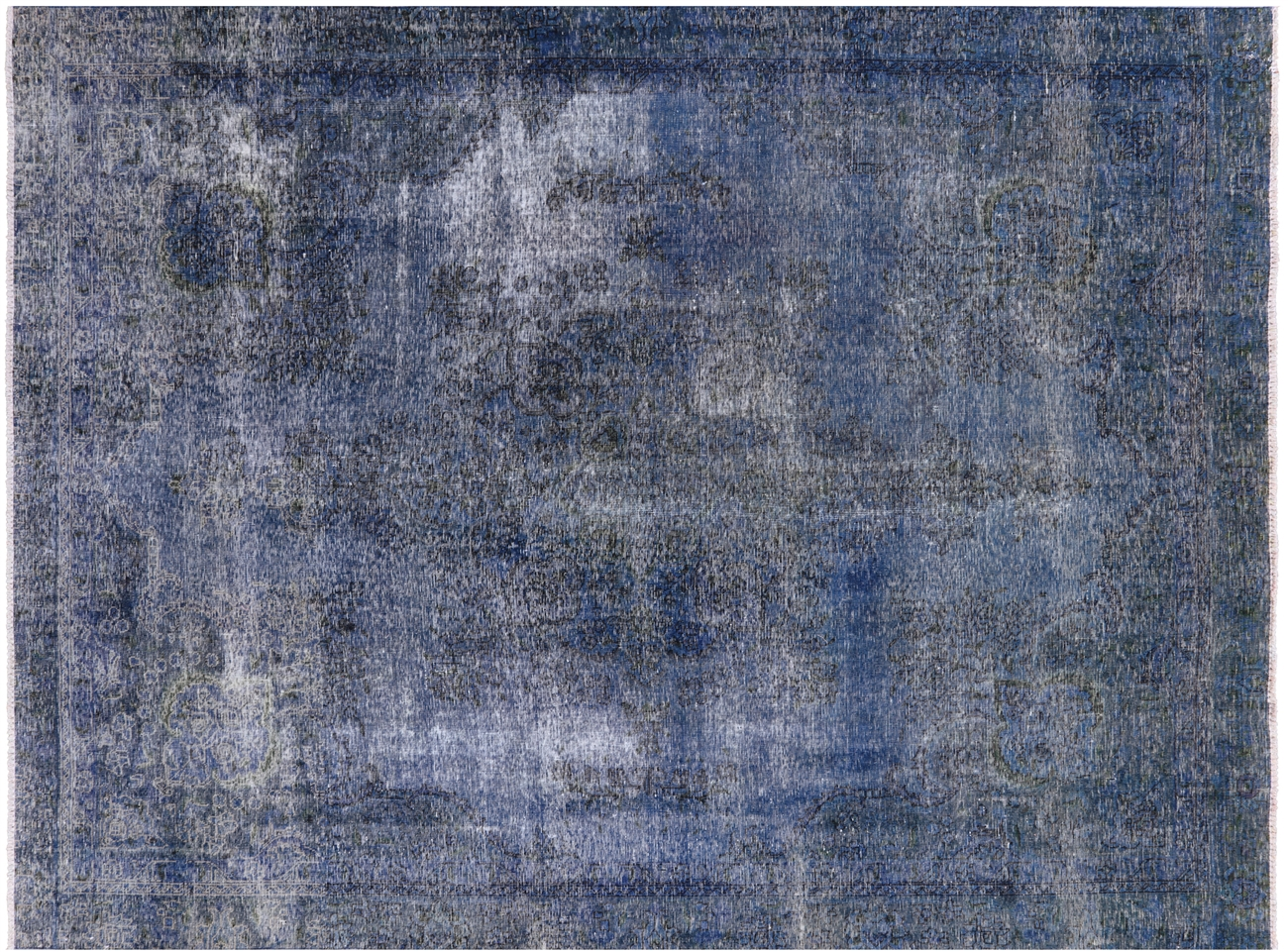 overdyed blue rug navy view larger photo new 9x11 handmade hand knotted overdyed blue floral oriental wool