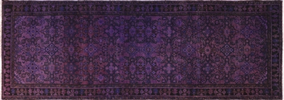 Persian Overdyed Runner Hand Knotted Wool Area Rug