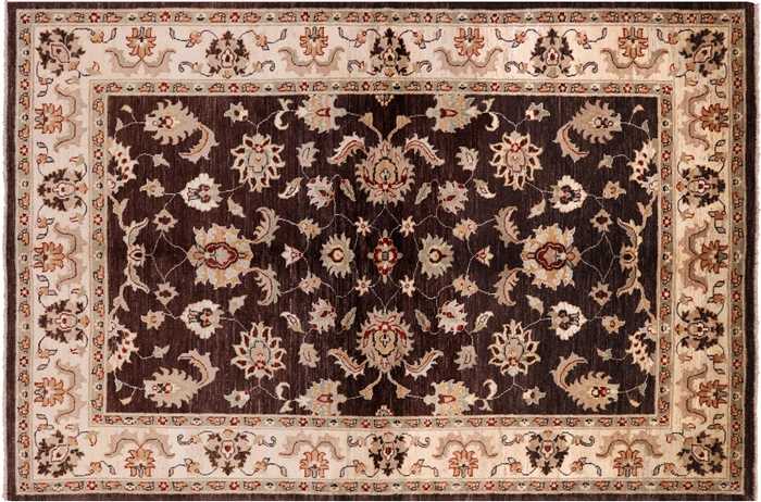 Brown Persian Handmade Wool Area Rug