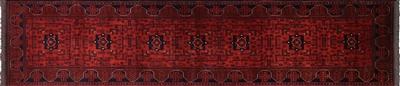 Beljik Tribal Runner Hand Knotted Wool Area Rug