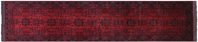 Beljik Tribal Runner Hand Knotted Wool Rug