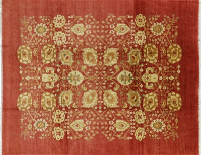 Oriental Hand Knotted Peshawar Wool Area Rug