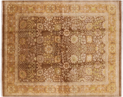 Peshawar Brown Hand Knotted Wool Rug