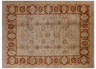 Persian Sultanabad Hand Knotted Wool Area Rug