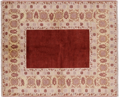 Red Gabbeh Hand Knotted Wool Area Rug