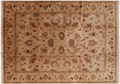 Hand Knotted Oushak Wool Rug