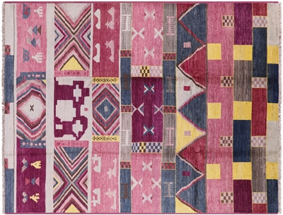 Southwest Navajo Design Hand Knotted Area Rug