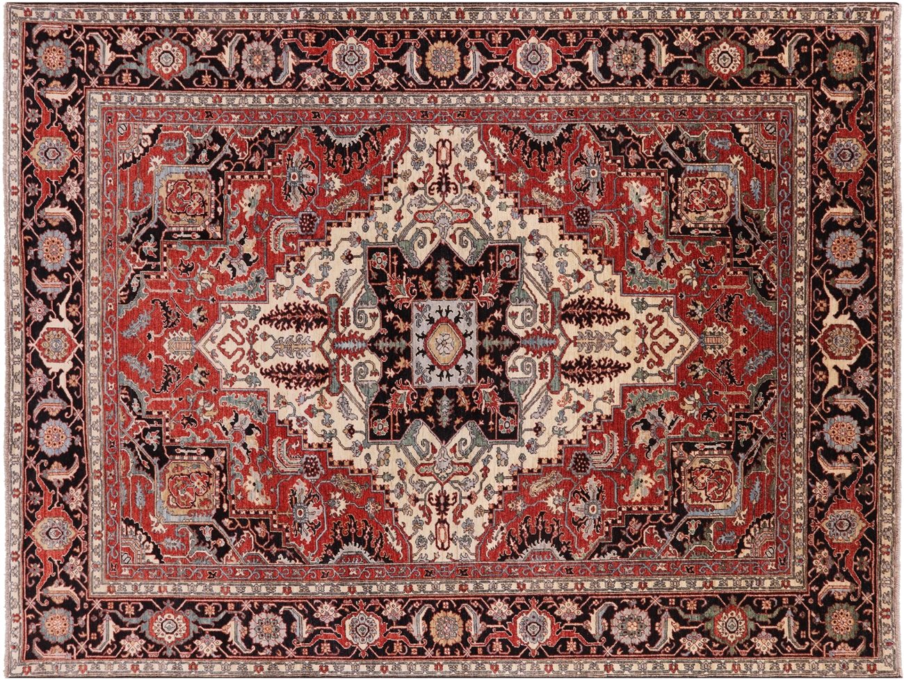 9 X 12 Fine Serapi Oriental Rug