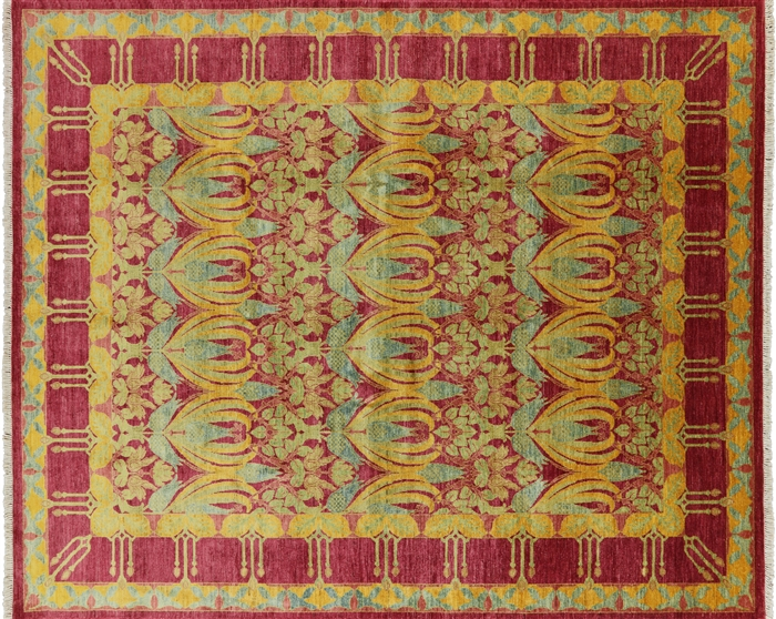 8 X10 William Morris Design Oriental Hand Knotted Wool
