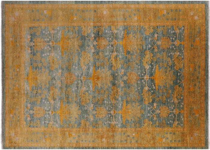 10 X14 Antiqued Peshawar Hand Knotted Oriental Chobi Wool