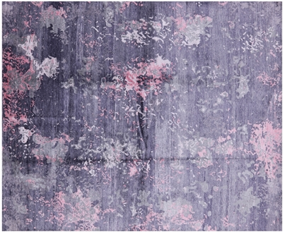 Contemporary Hand Knotted Silk Rug