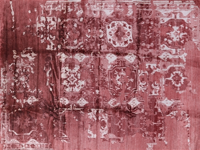 Oriental Abstract Silk Rug