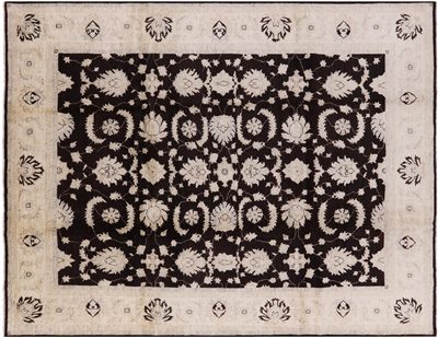 Peshawar Hand-Knotted Wool Rug