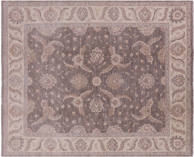 Hand Knotted Floral Peshawar Area Rug