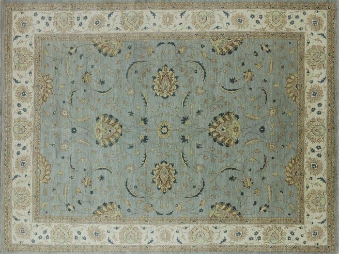 Blue Oushak Style Chobi Quality Oriental Area Rug 9 X 12