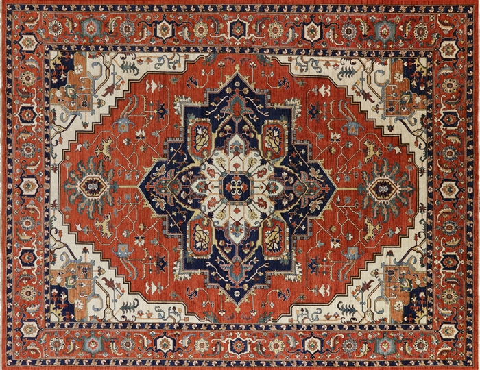 Oriental Fine Serapi Hand Knotted Rug
