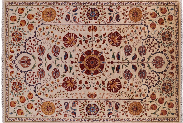 William Morris Hand Knotted Wool Oriental Area Rug