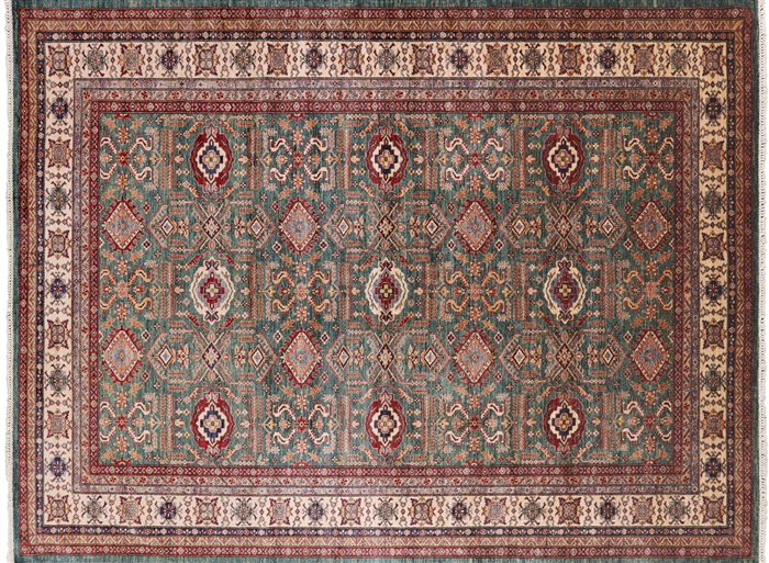 Hand Knotted Wool Super Kazak Rug