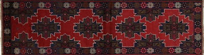 Baluch Persian Runner Hand Knotted Wool Rug