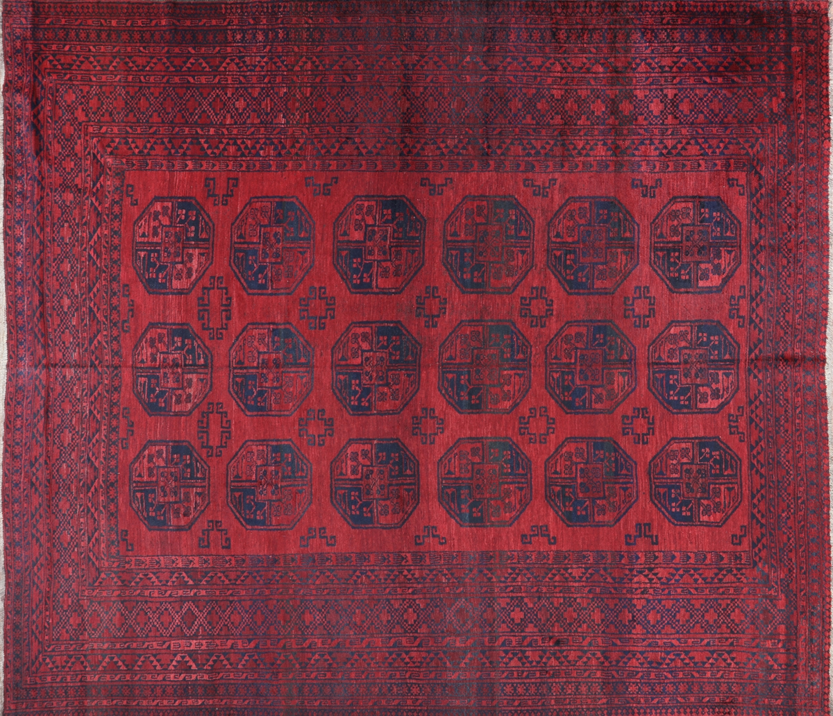 10 X12 Tribal Turkmen Gul Red Amp Blue Afghan Hand Knotted