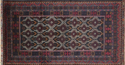 Tribal Persian Hand Knotted Wool Area Rug