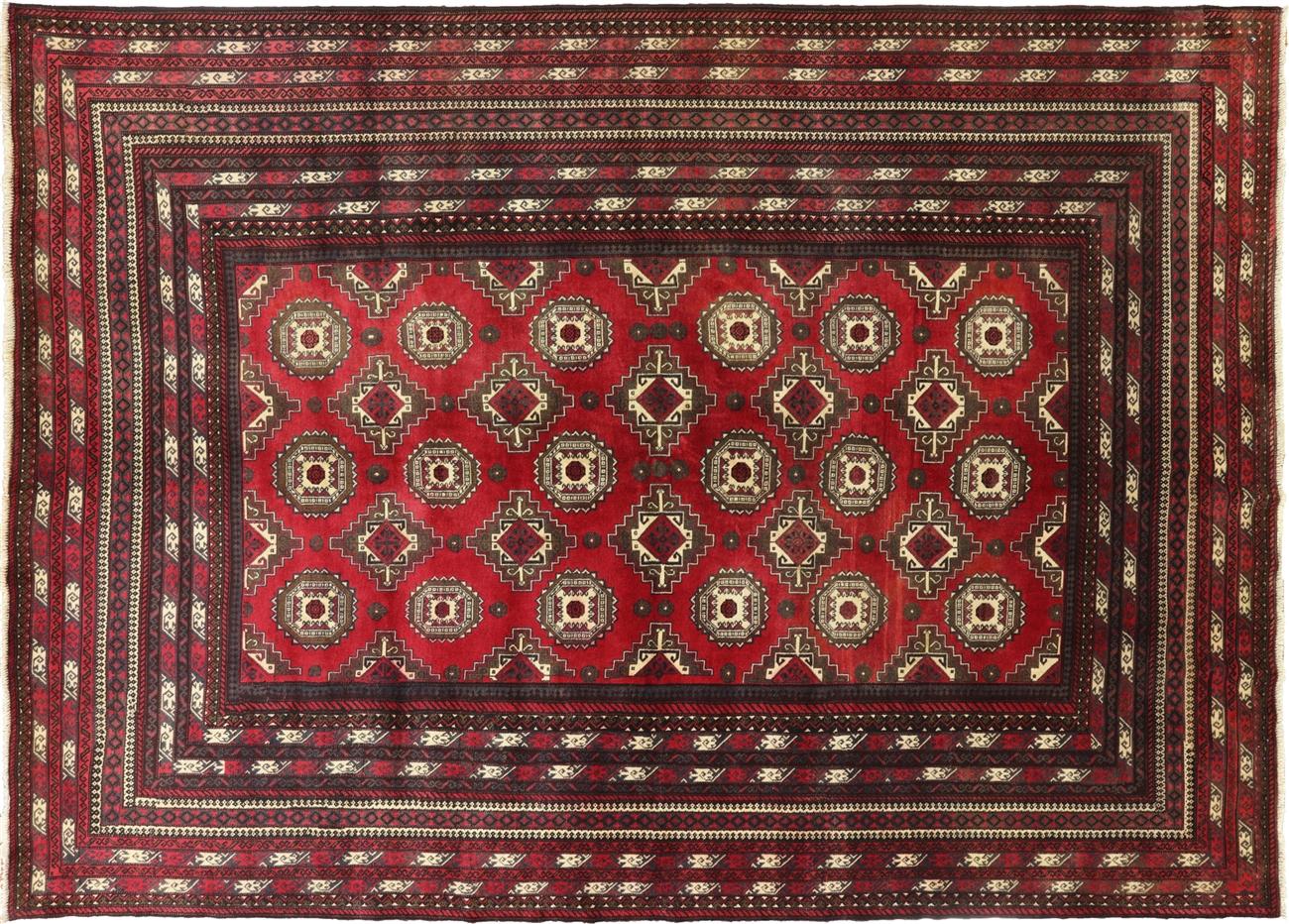 Persian 7 X 9 Afghan Wool On Rug