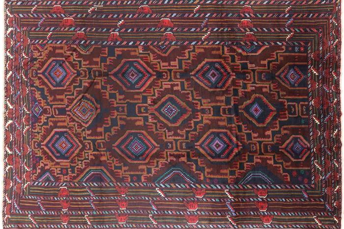 Wool Amp Wool 9 X 13 Tribal Afghan Rug P1392