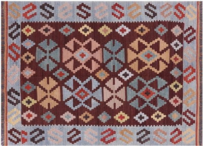 Flat Weave Kilim Wool on Wool Rug