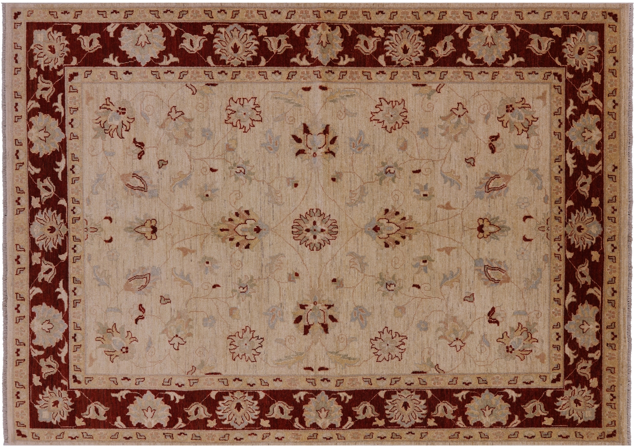Persian Sultanabad Oriental Wool Area Rug 6 X 9 P2090