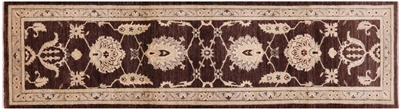 Runner Peshawar Hand Knotted Wool Rug