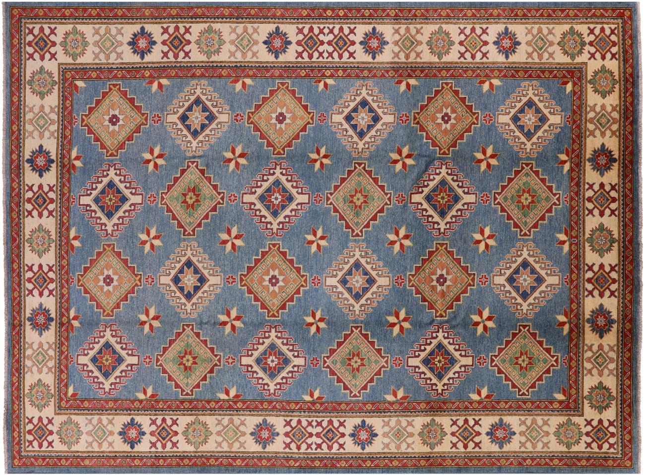 Kazak Handmade Wool Area Rug 10 1 X