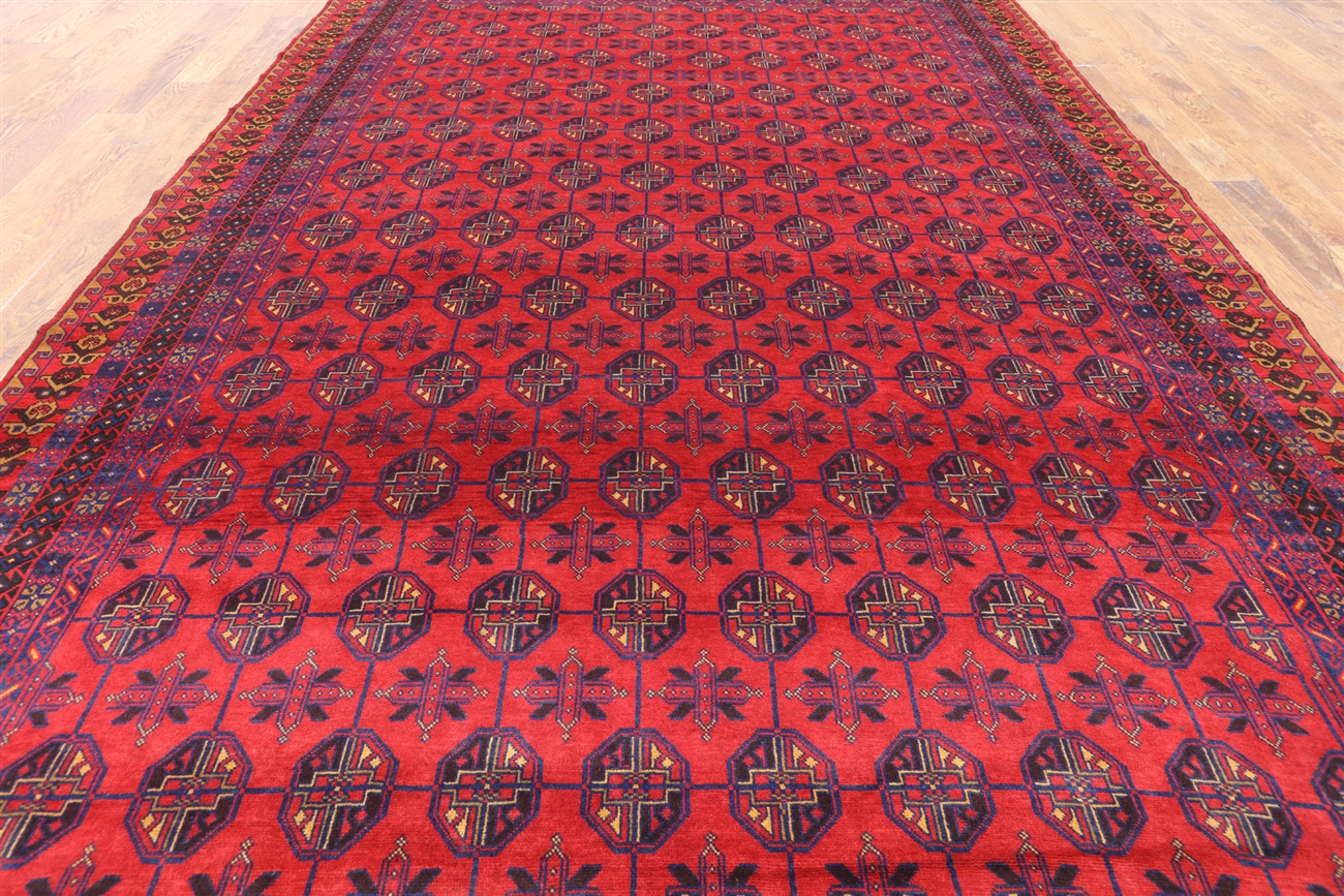 9 X 13 Wool On Wool Persian Balouch Handmade Rug P2855