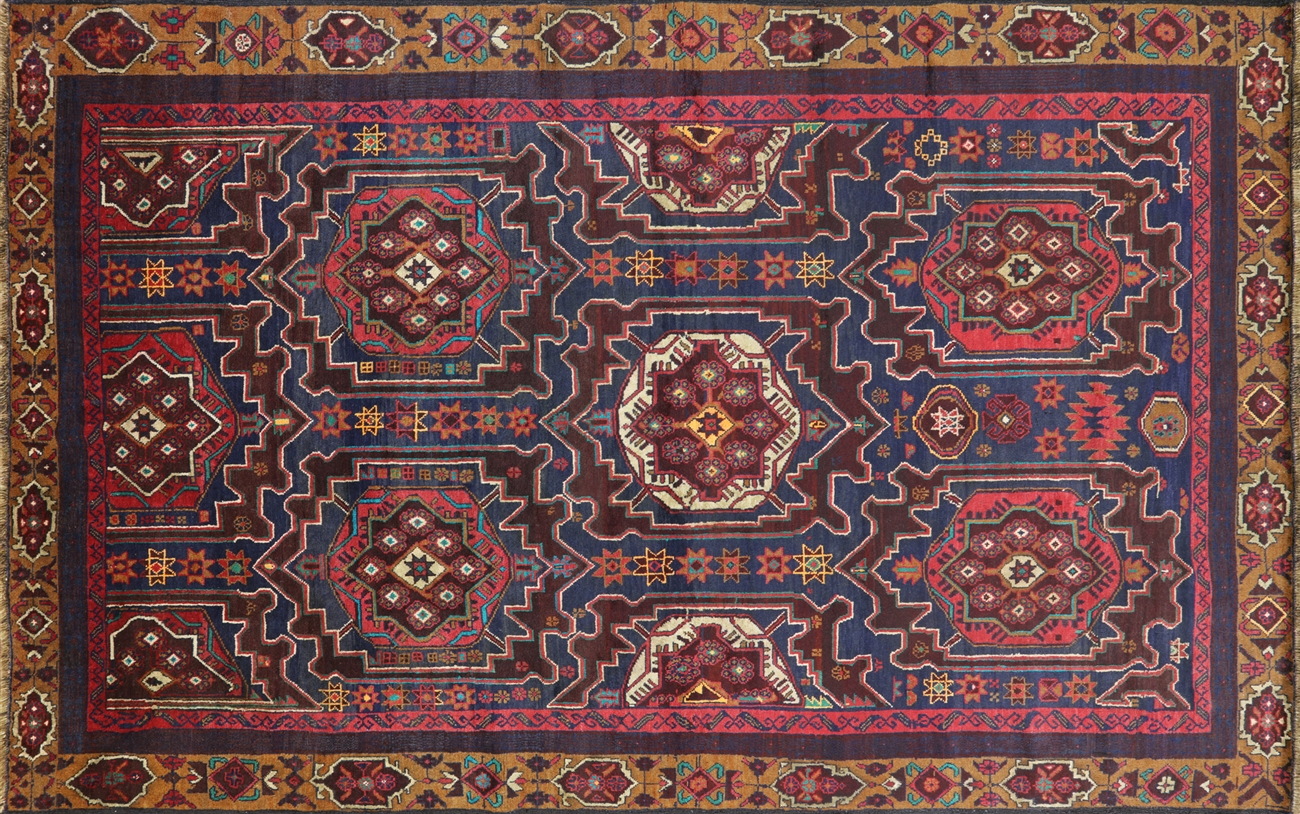 Wool On Wool Hand Knotted Persian Area Rug 7 X 11 P2857