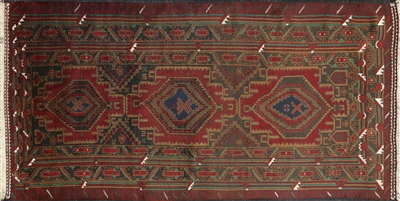 Hand Knotted Tribal Persian Balouch Rug