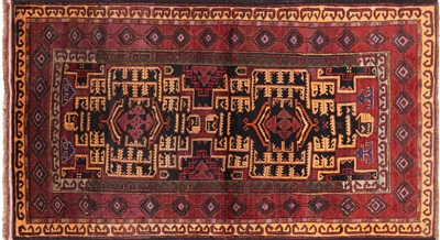 Wool on Wool Oriental Persian Area Rug