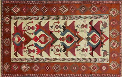 4 x 6 Oriental Hand Knotted Persian Area Rug - P2957