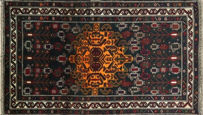 Handmade Persian Wool On Wool Area Rug