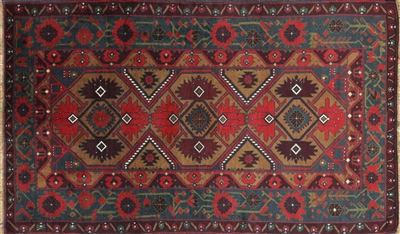Oriental Persian Traditional Wool On Wool Area Rug